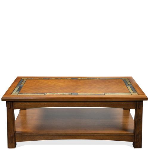 Riverside - Craftsman Home - Coffee Table - Americana Oak Finish