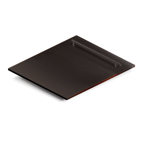 "Zline Kitchen and Bath - ZLINE 24"" Dishwasher Panel with Modern Handle [Color: Black Matte]"