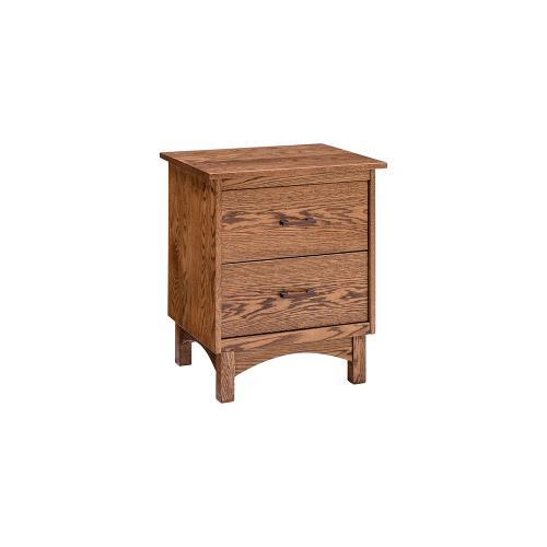 Chestnut Oaks 2 Drawer Nightstand - Provincial