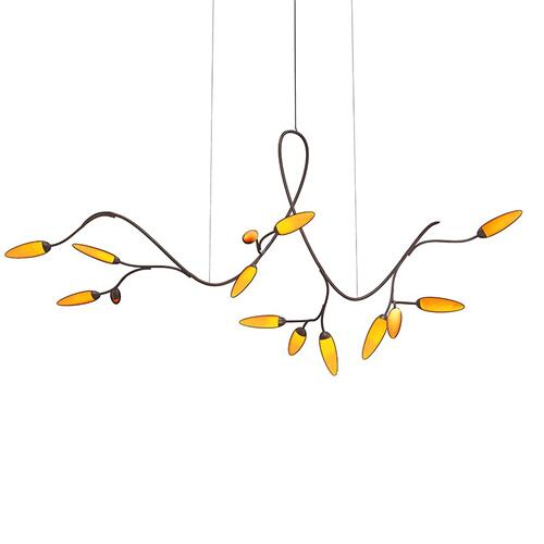 Sonneman - A Way of Light - Vines LED Pendant [Size=Standard, Color/Finish=Coffee Bronze]