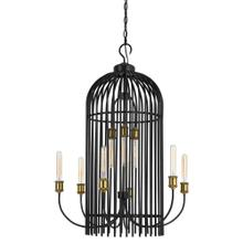 60W X 9 Birdcage Metal Chandelier (Edison Bulbs Not included)