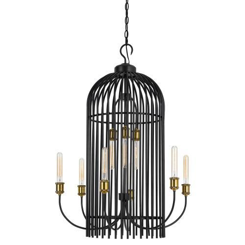 60W X 9 Birdcage Metal Chandelier (Edison Bulbs Not included)