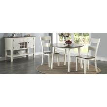 See Details - Piece Dining - Drop Leaf Table with 2 chairs