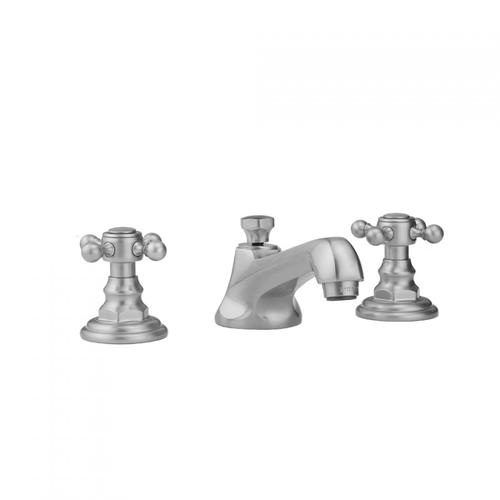 Jaclo - Antique Brass - Westfield Faucet with Ball Cross Handles & Fully Polished & Plated Pop-Up Drain