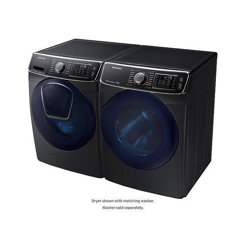 Samsung - 7.5 cu. ft. Gas Dryer in Black Stainless Steel
