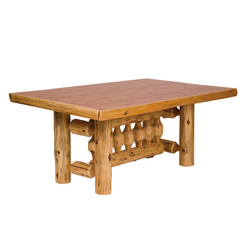 Traditional Dining Table - 8-foot - Natural Cedar