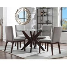 View Product - Amalie 5-Piece Camel Dining Set (Table & 4 Chairs)