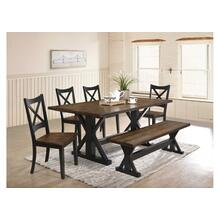 5015 Lexington 6-Piece Dining Set (Table, 4 Chairs, 1 Bench)