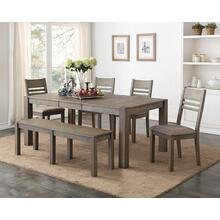 Cambridge 7 Piece Dining Set, Gray Brown 1126-dining-ladder-7pc-k