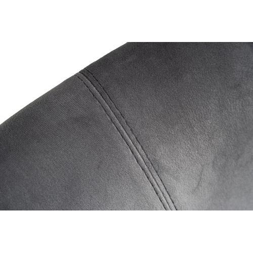 Modrest Chadwick Modern Grey Velvet & Rosegold Dining Chair