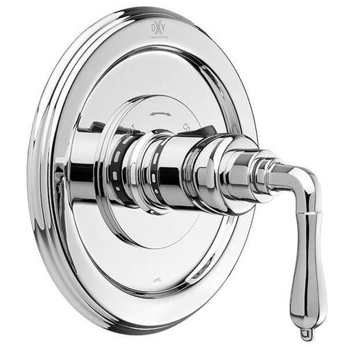 Dxv - Ashbee 1/2 Inch or 3/4 Inch Thermostatic Valve Trim with Lever Handles - Polished Chrome