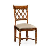Rope twist veneer open back chair (Side)