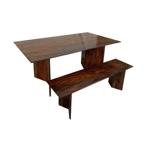 See Details - Cambria Midnight Dining Table & Bench, D8396-M