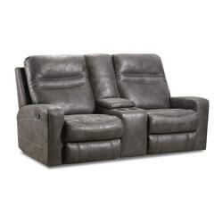56422 Double Motion Loveseat with Console - Power