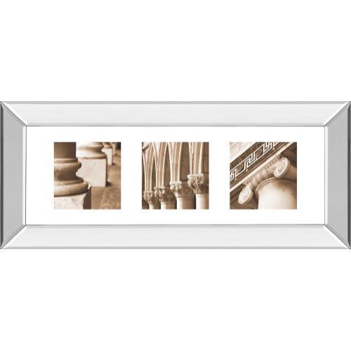 "Classy Art - ""Architectural Triptych I"" By Tony Koukos Mirror Framed Print Wall Art"