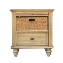 CF-1200 Bedroom  Nightstand with Basket