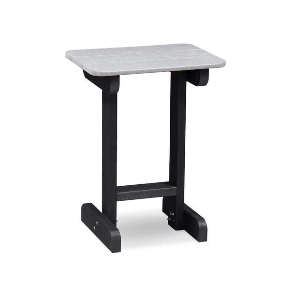"See Details - RK Outdoor 30"" End Table, Light Grey & Black"