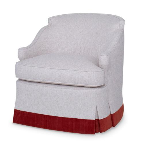Barbara Swivel Chair - Skirted