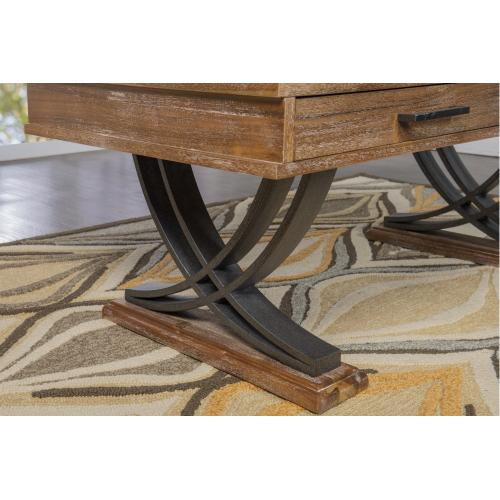 2-drawer and 2 Wishbone Legs Cocktail Table, Honey