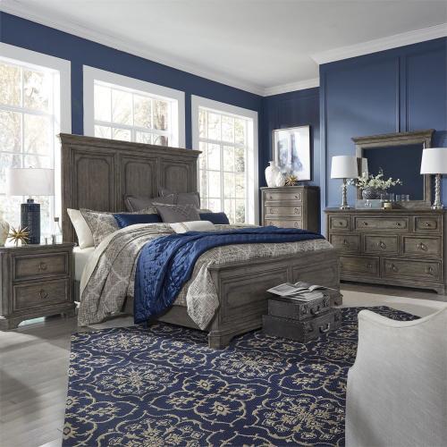 King California Panel Bed, Dresser & Mirror, Chest, N/S