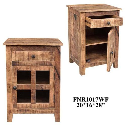 Crestview Collections - 20X16X28 SOLID MANGO WOOD ACCENT CABINET, 1 PC/7.35'