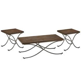 Hillcrest 3-Pack Tables, Brown