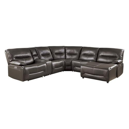6-Piece Power Reclining Sectional with Right Chaise