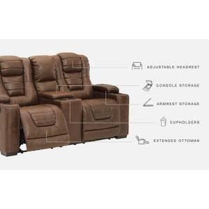 Signature Design By Ashley - Owner's Box Power Reclining Loveseat With Console