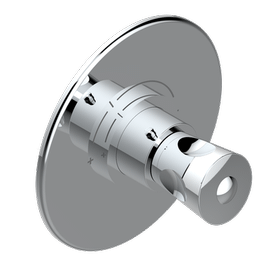 Trim for THG thermostatic valve, rough part supplied with fixing box ref. 5 200AE/US - Round plate model