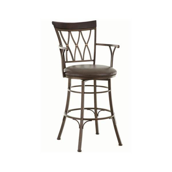 Bali Jumbo Swivel Bar Chair with Armrest