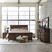 King Panel Bed, Dresser & Mirror, Night Stand Product Image