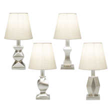 Silver Contemporary Accent Lamp. 40W Max. (4 pc. ppk.)