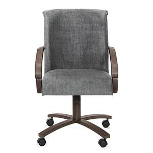 Chair Bucket: Rolled Arm (smoke & aged iron)