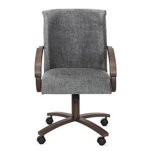 Chromcraft - Chair Bucket: Rolled Arm (smoke & aged iron)