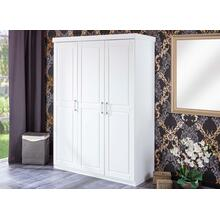 20900115 - Solid Wood Magnus 3-Door Wardrobe, Whitewash