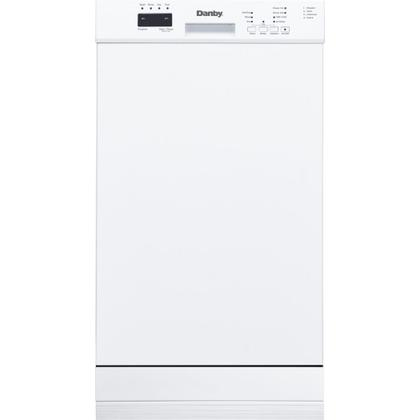 """See Details - Danby 18"""""""" Built-in Dishwasher with Front Controls (White)"""