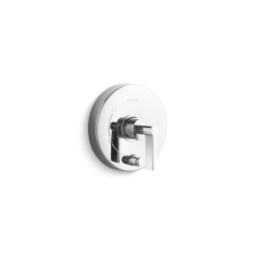 Pressure Balance Trim with Diverter, Lever Handle - Nickel Silver