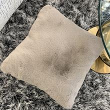 "Chinchilla Feel Faux Fur Pillow by Rug Factory Plus - 20"" x 20"" / Mocha"