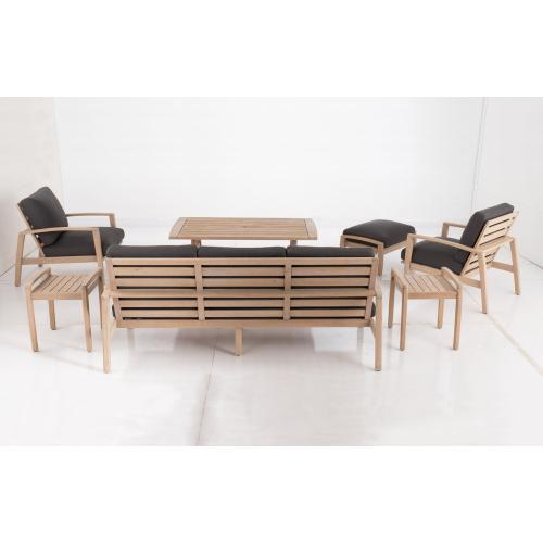 Bethany Eucalyptus FSC KD Deep Seating Lounge Chair w/ Sunbrella cushion
