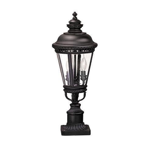 Castle Medium Post Lantern Black