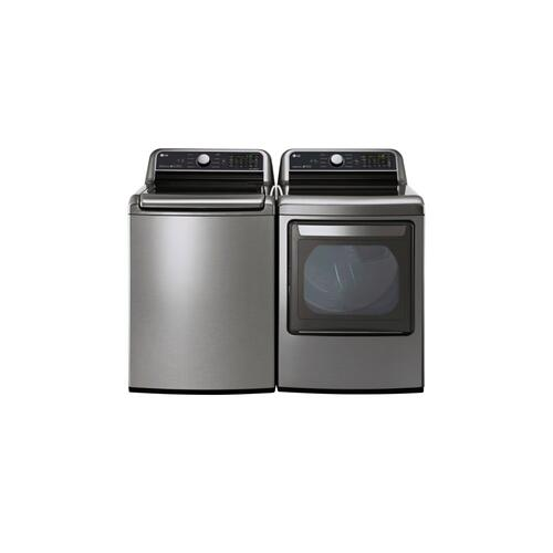 LG - 5.0 cu. ft. Large Smart wi-fi Enabled Top Load Washer
