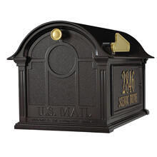 See Details - Balmoral Mailbox Side Plaques Package - Black