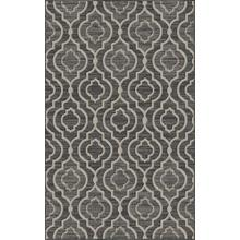 "Durable Flat Weave No Shedding Lifestyle 697 Area Rug by Rug Factory Plus - 2' x 7'5"" / Silver"
