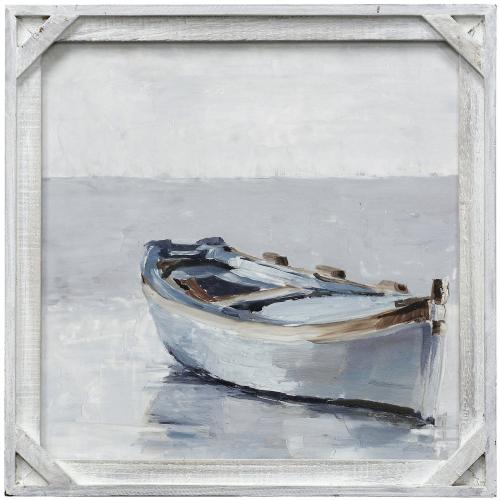 Style Craft - REFLECTED HORIZON I  20in X 20in  Made in the USA  Textured Framed Print
