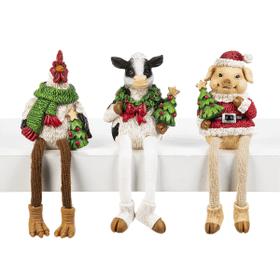 Barnyard Christmas Shelfsitters (6 pc. ppk.)