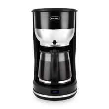 Kalorik 10 Cup Retro Coffee Maker, Black