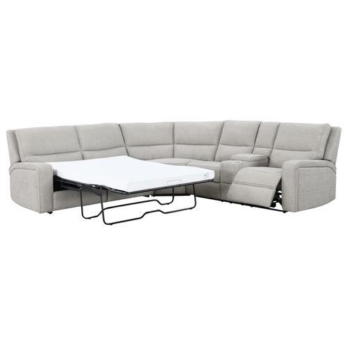 Medford Full Sleeper and Power Motion Sectional, Driftwood Tan U8055-13-46-28-05-k