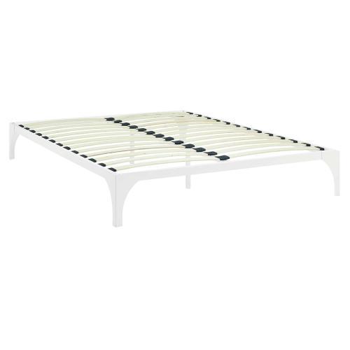 Ollie King Bed Frame in White