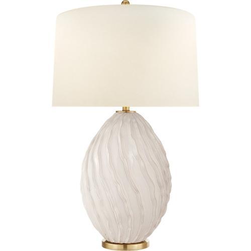 Visual Comfort CHA8697IVO-PL E. F. Chapman Dianthus 31 inch 150 watt Ivory Table Lamp Portable Light, Large