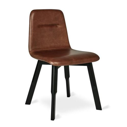 Bracket Dining Chair Saddle Brown Leather